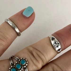 Native American Midi Child Rings Sterling Silver